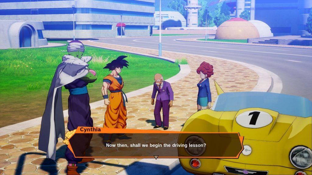 Minigame de Dragon Ball Z retrata lições de direção