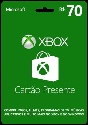 Cartão-Presente Xbox - R$ 70